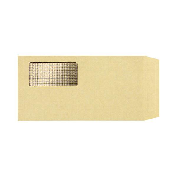 (まとめ) TANOSEE 窓付封筒 裏地紋付 ワンタッチテープ付 長3 70g/m2 クラフト 1パック(100枚) 【×10セット】