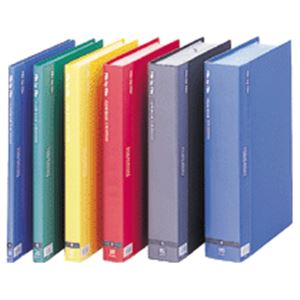(まとめ)ビュートン クリヤーブック A4タテ40ポケット 背幅26mm ブルー BCB-A4-40B 1セット(6冊) 【×3セット】