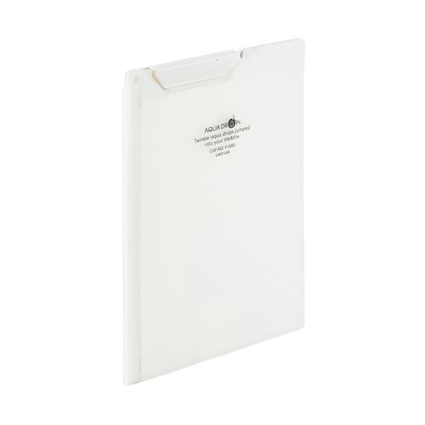 (まとめ)LIHITLAB クリップファイルA5 乳白 F-5065-1【×50セット】