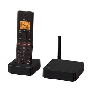 シャープ DECT1.9GHz快適デジタル親・子電話線コードレス電話機(子機1台タイプ) ブラウン系