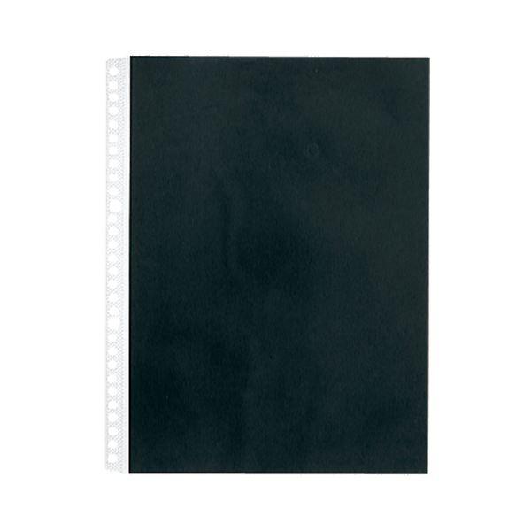 (まとめ) キングジム カラーベースポケットA4タテ 2・4・30穴 黒 103CP 1セット(50枚:10枚×5パック) 【×10セット】