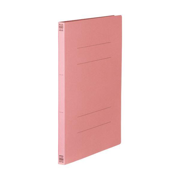 (まとめ) プラス フラットファイル 樹脂とじ具A4タテ 150枚収容 背幅18mm ピンク No.021N 1セット(10冊) 【×30セット】