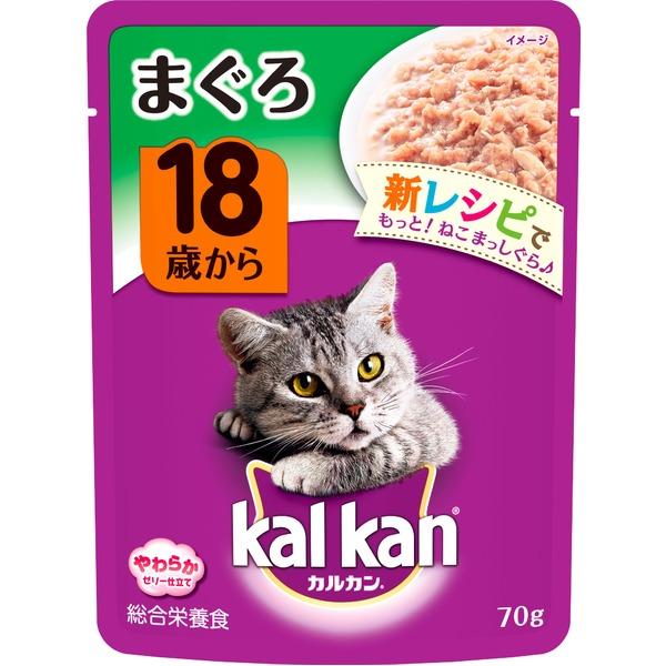 (まとめ)カルカン パウチ 18歳から まぐろ 70g【×160セット】【ペット用品・猫用フード】