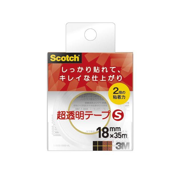 (まとめ) スリーエムジャパン スコッチ 超透明テープS 18mm×35m【×50セット】