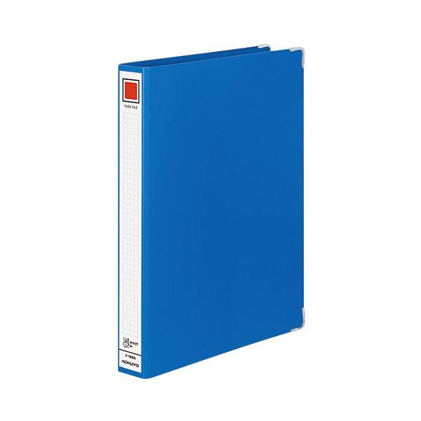 (まとめ) コクヨ チューブファイル Mタイプ 片開き A4タテ 300枚収容 背幅44mm 青 フ-1630B 1冊 【×30セット】