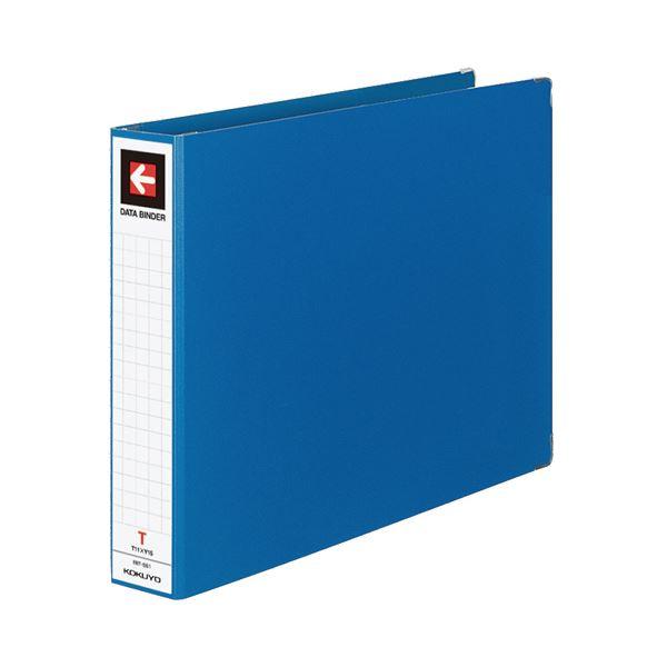 (まとめ) コクヨ データバインダーT(バースト用・ワイドタイプ) T11×Y15 22穴 450枚収容 青 EBT-551B 1冊 【×10セット】