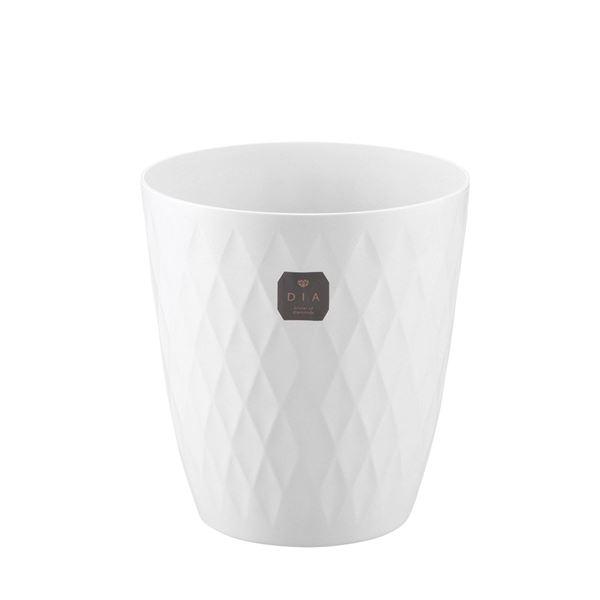 (まとめ) プラスチック製 ダストボックス/ゴミ箱 【S ホワイト】 直径23×高さ25cm 『ディア カン』 【×20個セット】