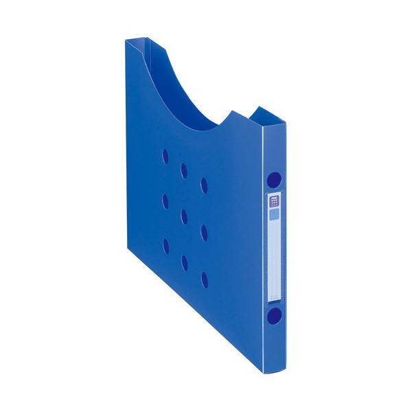 (まとめ) ライオン事務器ボックスファイル(ノイル) スリムタイプ A4ヨコ 背幅25mm ブルー BF-12n 1個 【×30セット】