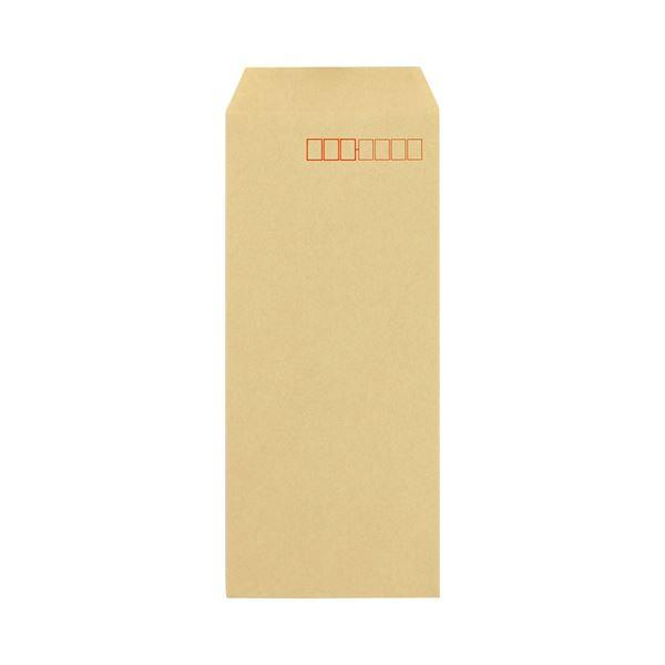(まとめ) キングコーポレーション クラフト封筒(アドヘヤ付) 長4 70g/m2 〒枠あり 060202 1パック(1000枚) 【×5セット】