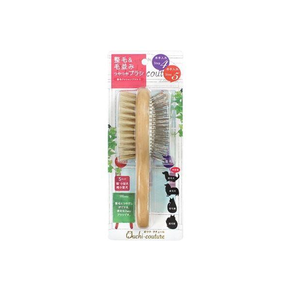 (まとめ)豚毛クッションブラシS OC-20(ペット用品)【×12セット】