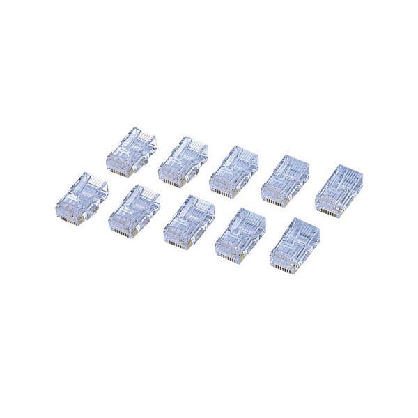 (まとめ) エレコム カテゴリー6対応 RJ45コネクタ 単線・より線対応 LD-6RJ45T10 1セット(10個) 【×10セット】
