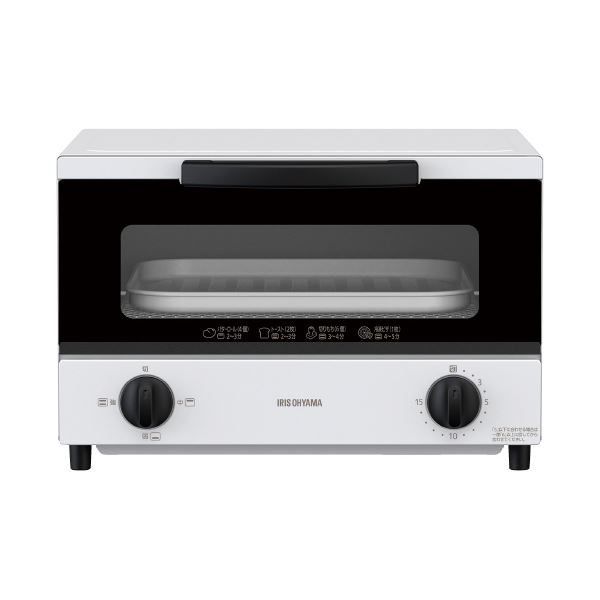 (まとめ)アイリスオーヤマ オーブントースター 4枚焼き EOT-032-W(×3セット)