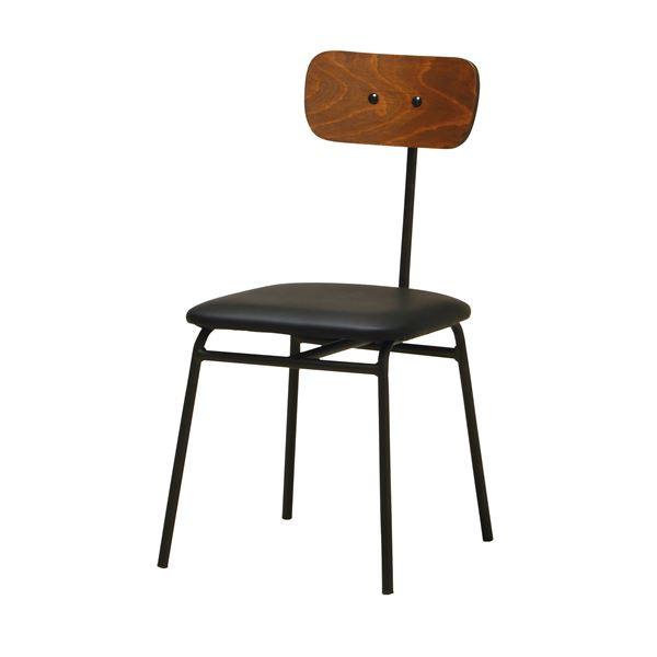パーソナルチェア/椅子 【幅425×奥行545×高さ805mm】 スチールフレーム 合皮/合成皮革 〔リビング〕 完成品【代引不可】