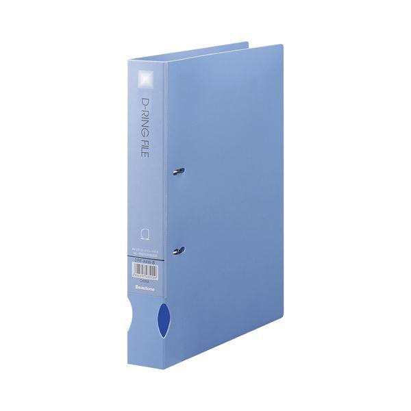 (まとめ) ビュートン Dリングファイル A4タテ 300枚収容 背幅43mm ブルー DRF-A4W-B 1冊 【×30セット】