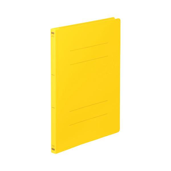 (まとめ) TANOSEE フラットファイル(PP) A4タテ 150枚収容 背幅17mm イエロー 1セット(25冊:5冊×5パック) 【×5セット】