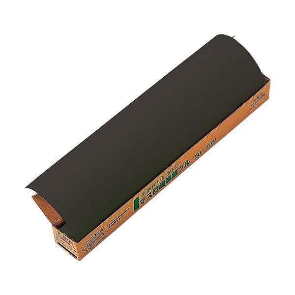マルアイ マス目模造紙(プルタイプ)ブラック マ-51D 1ケース(50枚) 【×10セット】
