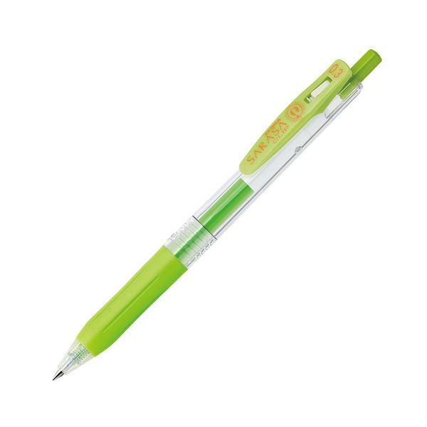 (まとめ) ゼブラ ゲルインクボールペン サラサクリップ 0.3mm ライトグリーン JJH15-LG 1本 【×100セット】