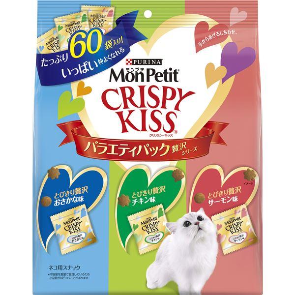 (まとめ)モンプチ クリスピーキッス バラエティーパック 贅沢シリーズ 180g (ペット用品・猫フード)【×12セット】
