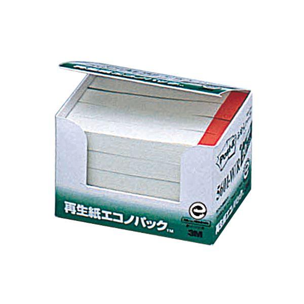(まとめ) 3M ポスト・イット エコノパックふせんハーフ 再生紙 75×12.5mm ホワイト(赤帯入) 5601-W/R 1パック(20冊) 【×10セット】