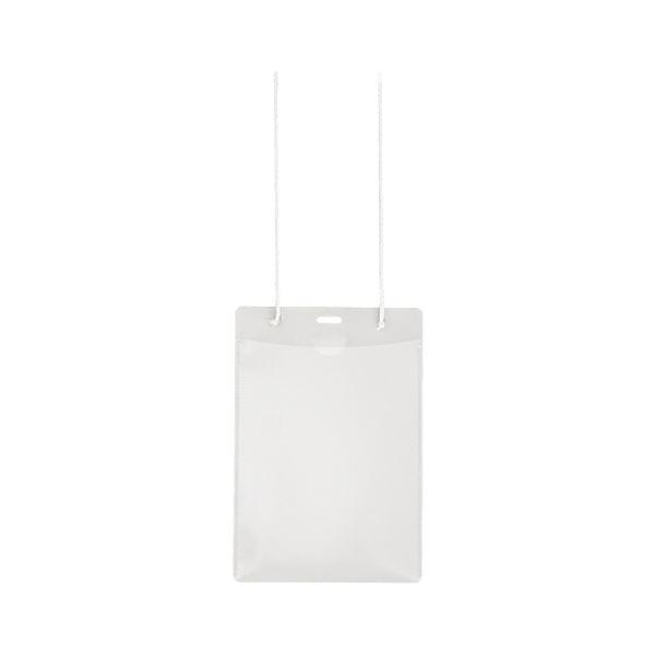 (まとめ) プラス イベント用 吊り下げ式 名札はがきサイズ ホワイト CT-E2 1パック(10個) 【×30セット】