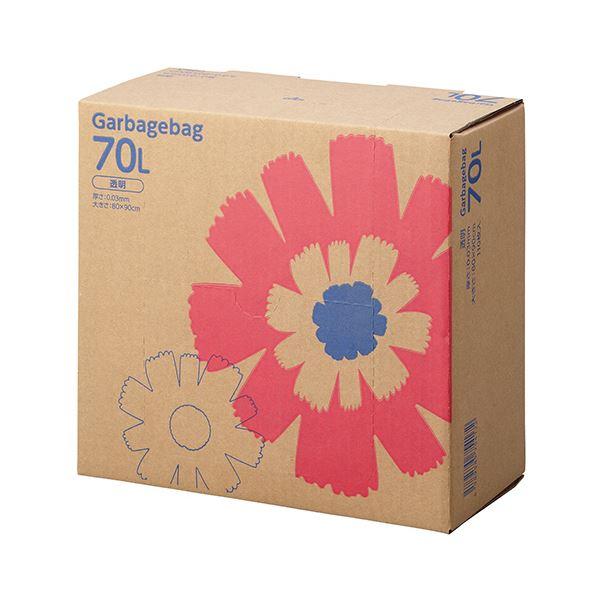TANOSEE ゴミ袋 コンパクト 透明70L BOXタイプ 1セット(440枚:110枚×4箱)
