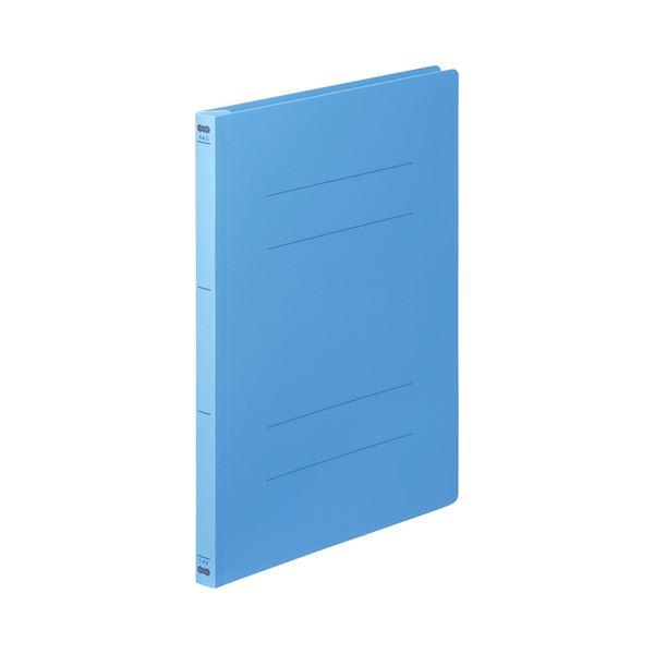 (まとめ) TANOSEE フラットファイル(PP) A4タテ 150枚収容 背幅17mm ブルー 1セット(25冊:5冊×5パック) 【×5セット】