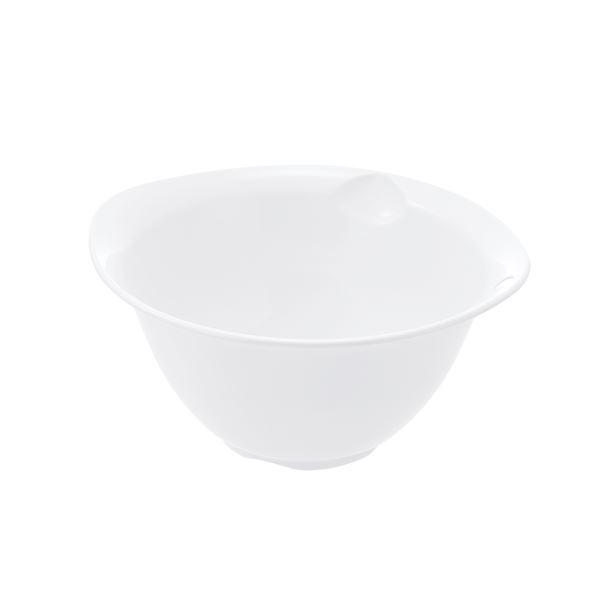 (まとめ) プラスチック製 ボール/キッチン用品 【ホワイト L】 銀イオン配合 食洗機対応 『シェリー』 【×80個セット】