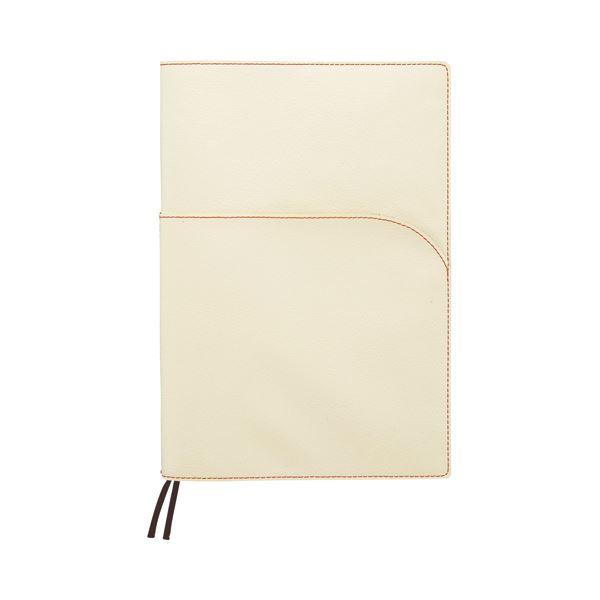 (まとめ) SEF ノートカバー セミB5 ホワイト×グアバ SEFNTCB5WH 1冊 【×10セット】