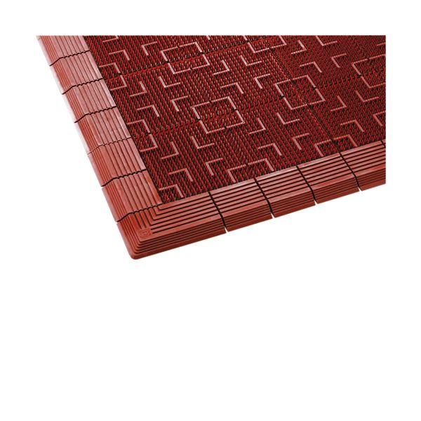 (まとめ)テラモト 屋外用マット テラロイヤルマット 600×900mm 茶 MR-050-040-4 1枚【×3セット】