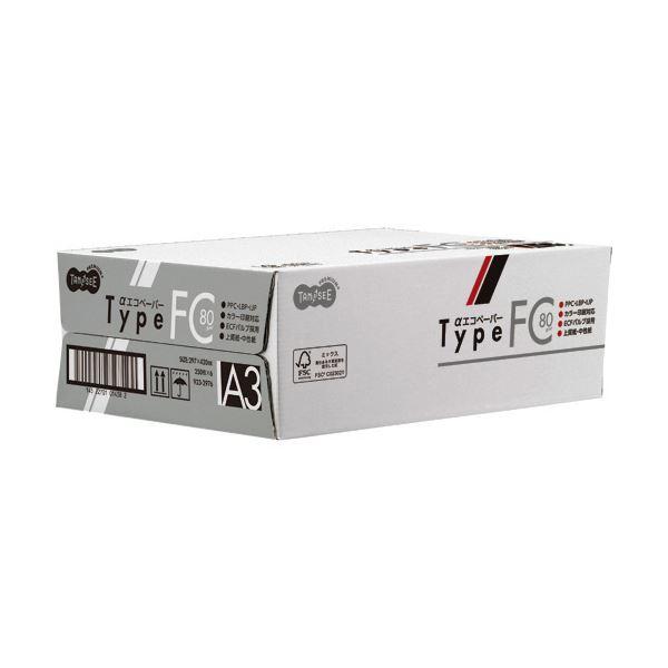 (まとめ)TANOSEE αエコペーパータイプFC A3 標準 80g 1セット(1500枚:250枚×6冊)【×3セット】