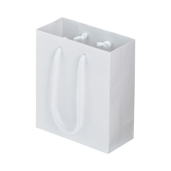 (まとめ) TANOSEE マットコート手提げ袋 ミニ ヨコ150×タテ170×マチ幅70mm ホワイト 1パック(10枚) 【×10セット】