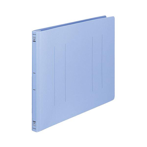 (まとめ) コクヨ フラットファイル(PP) B4ヨコ 150枚収容 背幅20mm 青 フ-H19B 1セット(10冊) 【×5セット】