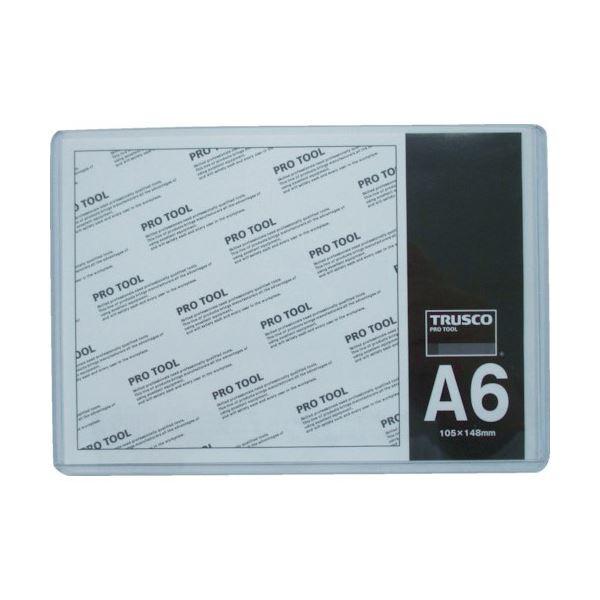 (まとめ) TRUSCO 厚口カードケース A6THCCH-A6 1枚 【×100セット】