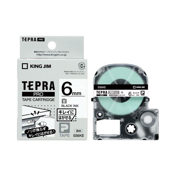 (まとめ)キングジム テプラPROテープ キレイ 白/黒文字 SS6KE【×30セット】