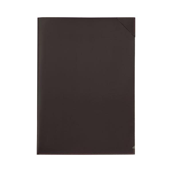 (まとめ) プロッシモ リサイクルレザー クリアジャケット A4 ブラウン PRORCJA4BR 1冊 【×10セット】