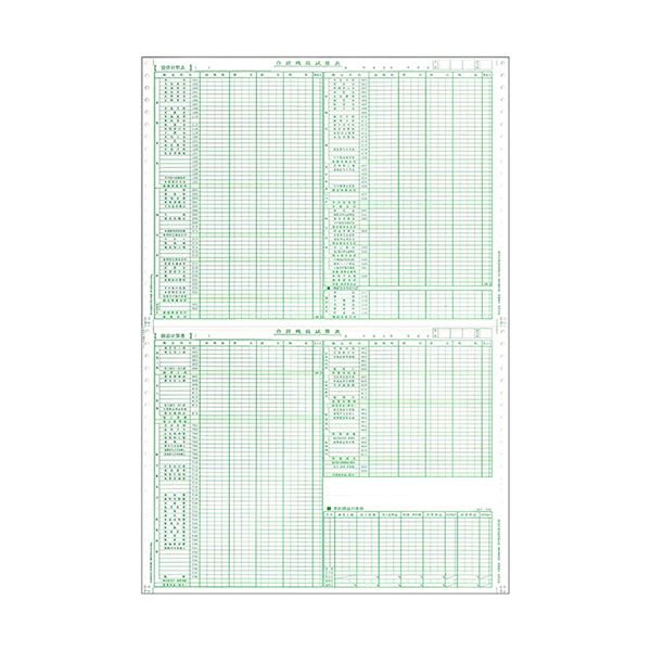 東京ビジネス 合計残高試算表 (建設・科目印刷) 平成18年会社法対応 CG1006KZU 1冊(50セット) 【×10セット】