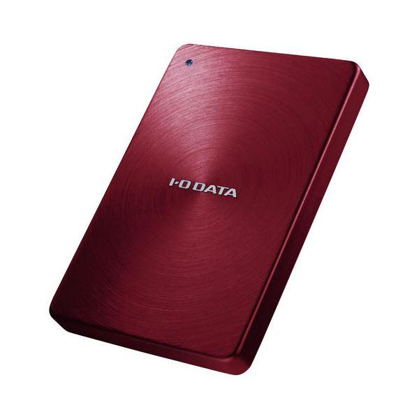 アイオーデータ USB3.0/2.0対応 ポータブルハードディスク「カクうす」 2.0TB レッド HDPX-UTA2.0R 1台