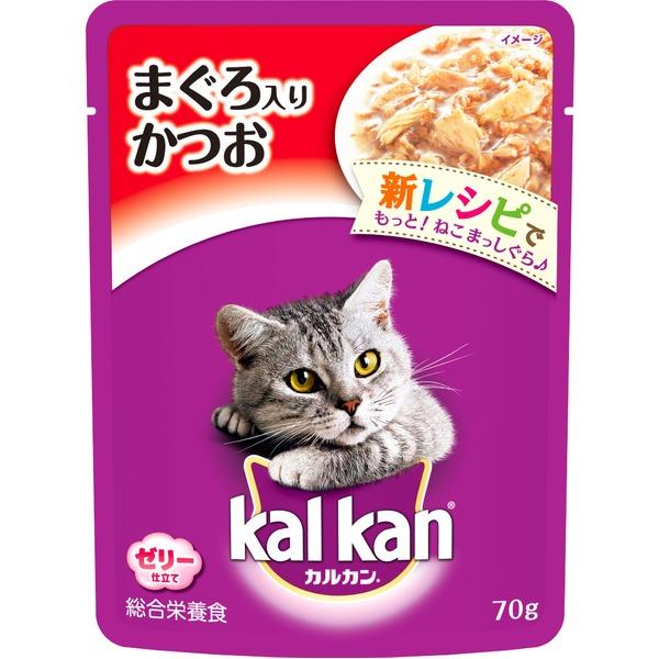 (まとめ)カルカン パウチ まぐろ入りかつお 70g【×160セット】【ペット用品・猫用フード】