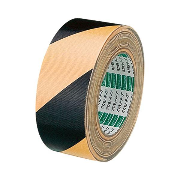 (まとめ) オカモト 布トラテープ 50mm×25m 黄/黒 No.111トラ 1巻 【×10セット】