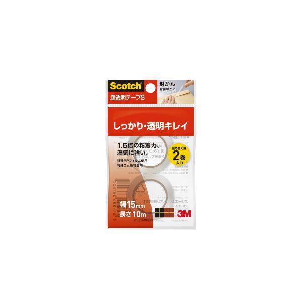 (まとめ)スリーエム ジャパン 超透明テープS 15mm×10m 2巻 CC1510-R2PN【×200セット】