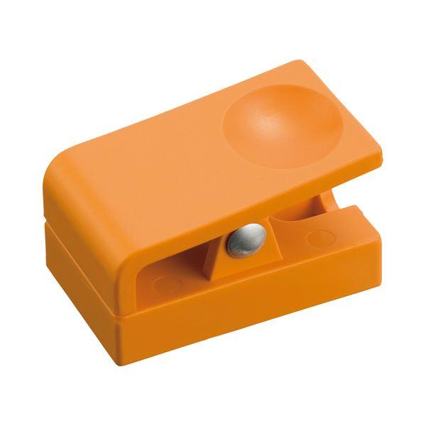 (まとめ) ミツヤ プラマグネットクリップ 小 橙 ME-PMCSK-OR 1個 【×50セット】