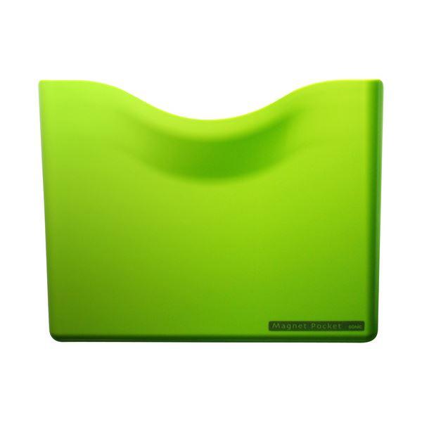 (まとめ) ソニック ネオジマグネットポケット A4 緑 MP-447-G 1個 【×10セット】