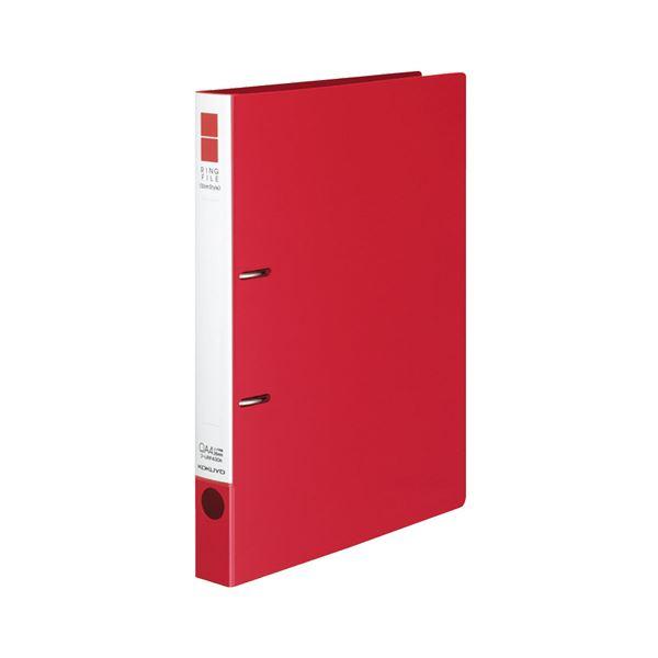 (まとめ) コクヨ リングファイル(スリムスタイル) A4タテ 2穴 220枚収容 背幅33mm 赤 フ-URF430R 1冊 【×30セット】