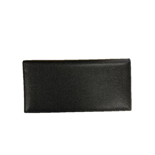 イタリア製ファクトリー革小物 牛革 レザーアイテム 長財布 ウォレット ブラック 399BX