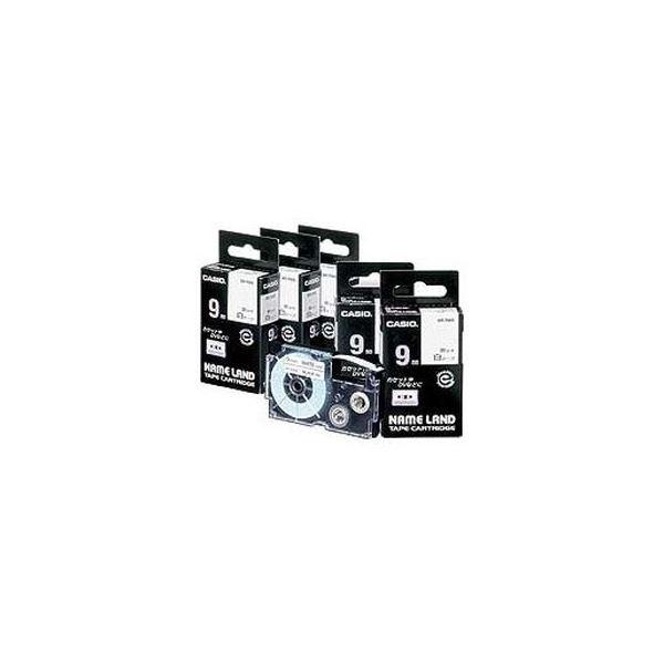 (まとめ)カシオ NAME LANDスタンダードテープ 6mm×8m 白/黒文字 XR-6WE 1セット(5個)【×3セット】