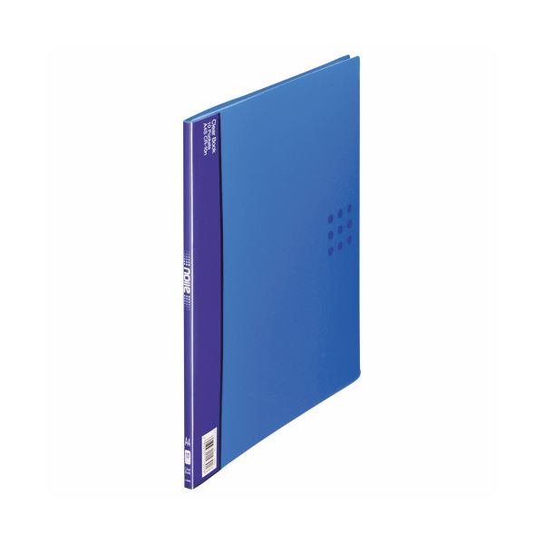 (まとめ) ライオン事務器 クリアーブック(ノイル)A4タテ 10ポケット 背幅8mm ブルー CR-10n 1冊 【×30セット】