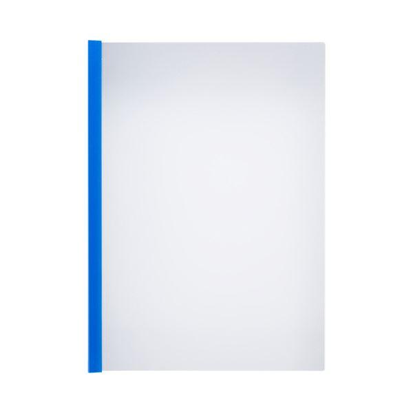 (まとめ)TANOSEE 薄型スリムレールホルダーA4タテ 20枚とじ 青 1セット(300冊:30冊×10パック)【×3セット】