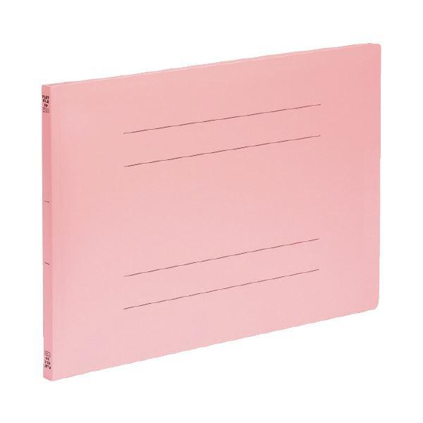 (まとめ)ビュートン PPフラットファイルA3横型 ピンク FF-A3E-P (×50セット)