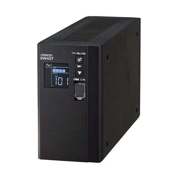 オムロン UPS無停電電源装置(常時商用給電/正弦波出力) 400VA/250W BW40T 1台