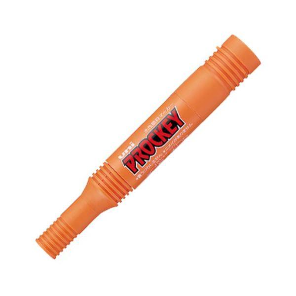 (まとめ) 三菱鉛筆 水性マーカー プロッキー 詰め替えタイプ 太字角芯+細字丸芯 橙 PM150TR.4 1本 【×100セット】